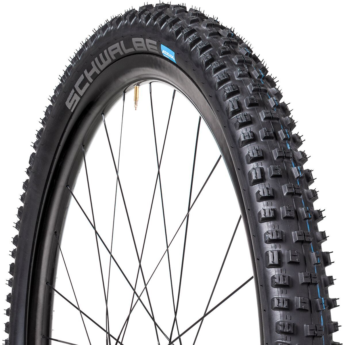 A long-time favorite among trail riders with a need for speed, the Schwalbe Nobby Nic Addix 29in Tire is an ideal all-purpose tire that's right at home on tough XC courses, but also perfect for demanding Enduro courses. The innovative Addix Speed compound delivers unprecedented performance over a variety of surfaces, while the widely-spaced tall knob pattern provides substantial grip while maintaining low rolling-resistance. The Nobby Nic uses a casing that is lightweight, flexible, and features