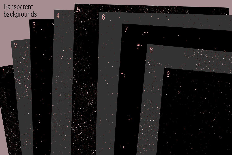 Rose Gold Dust Dots And Specks Transparent Background Dark Backgrounds Speck
