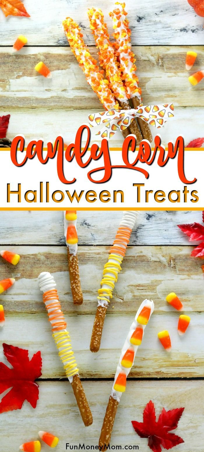 Candy Corn Pretzels Three Ways Halloween Treats - Candy corn treats are perfect for fall and you can make these candy corn pretzels for parties, school events or just to share with friends and neighbors! Of course, you'll want to save a few of these yummy Halloween treats for yourself too!