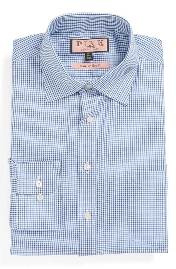 Cyber Monday deal: Thomas Pink Men's Slim Fit Traveller Dress ...