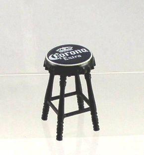 Bon Artisan Miniature Corona Beer Top Bar Stool