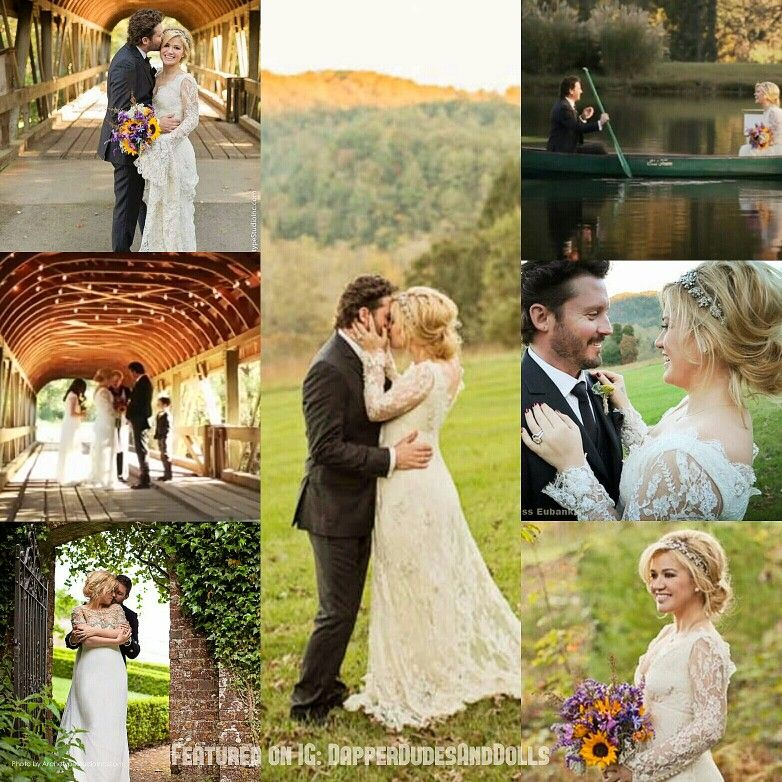 Throwbackthursday Celebrity Wedding Edition 4 Kelly Clarkson Brandon Blackstock Kelly Celebrity Weddings Kelly Clarkson Vintage Inspired Wedding