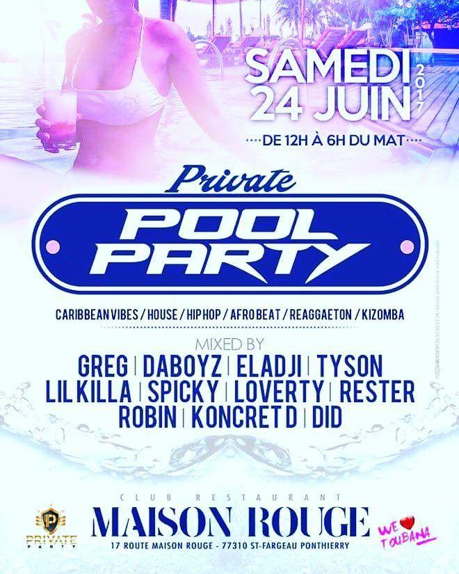 Ça commence des cet après-midi à Maison Rouge avec la Pool Party de #WeLoveToubana #MaisonRouge  #WebadubRadio http://bit.ly/2tFmWsq