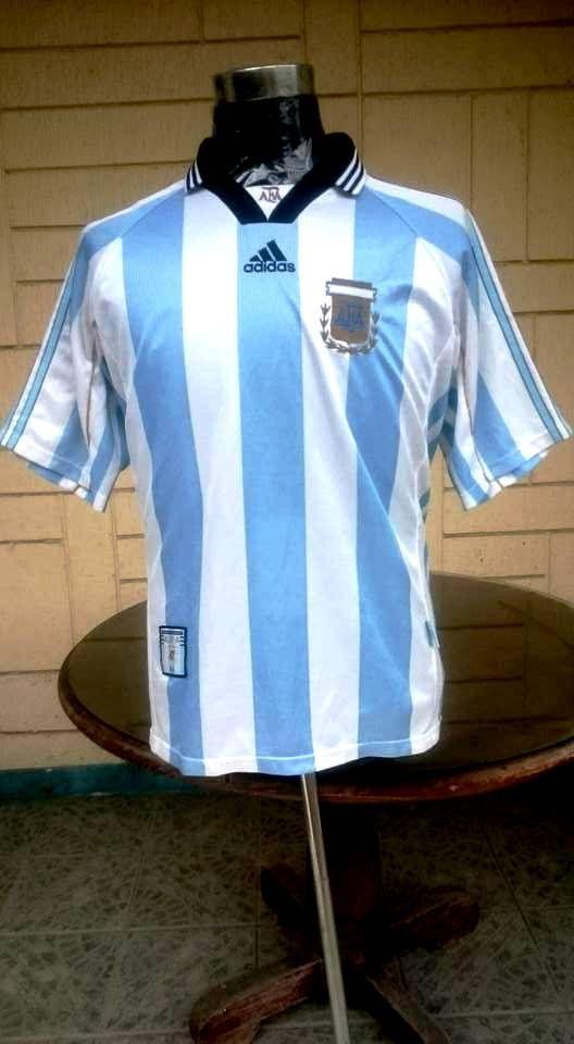 ARGENTINA 1998 WORLD CUP QUARTER FINALS JERSEY SHIRT CAMISETA ... 8ff272c51