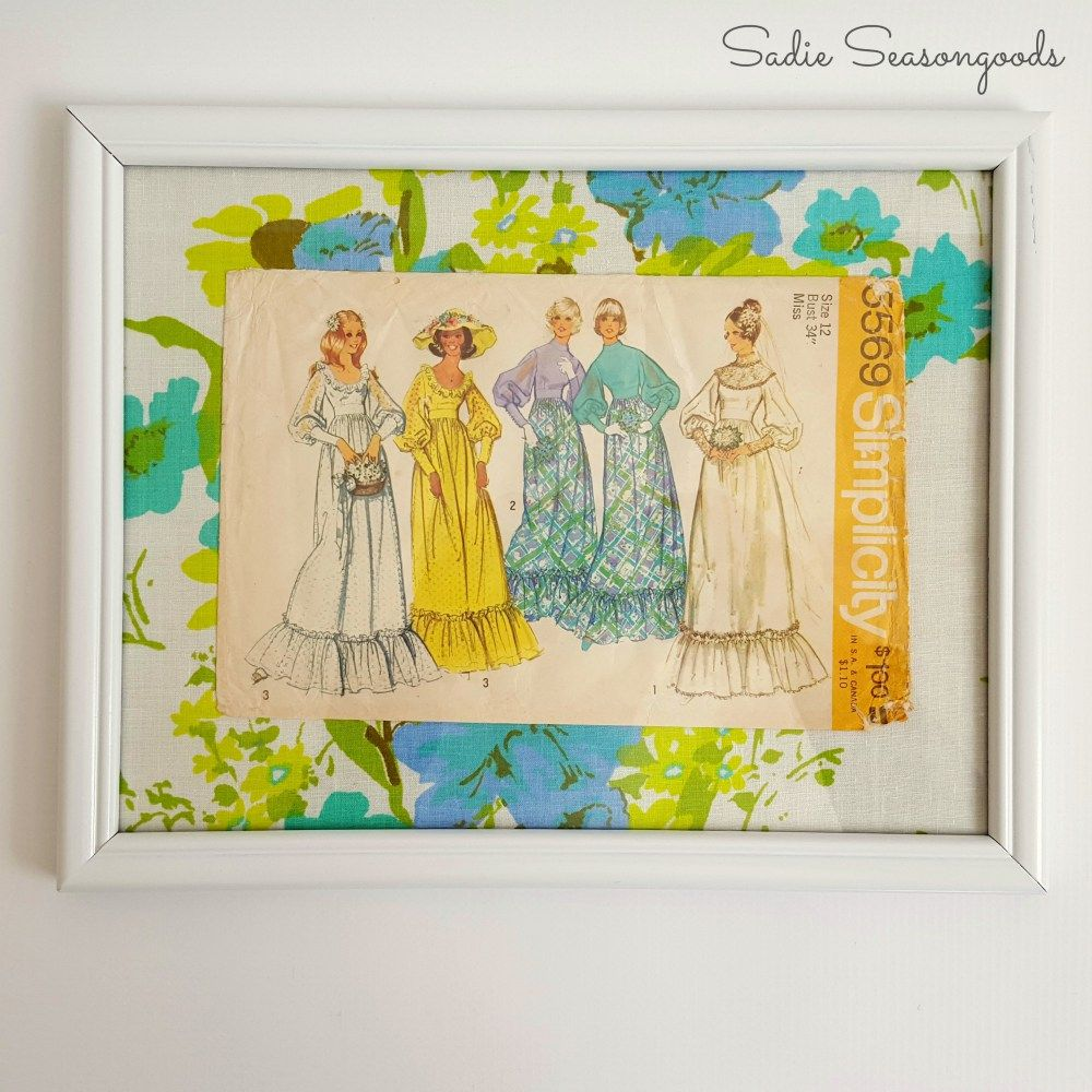 Fashion Wall Art using Repurposed Vintage Sewing Patterns | Fashion ...