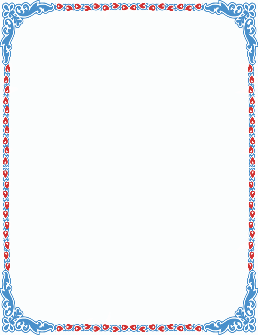 image result for pretty color page borders clip art