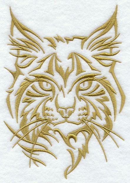 northwoods silhouette wildcat lynx www emb 3 pinterest