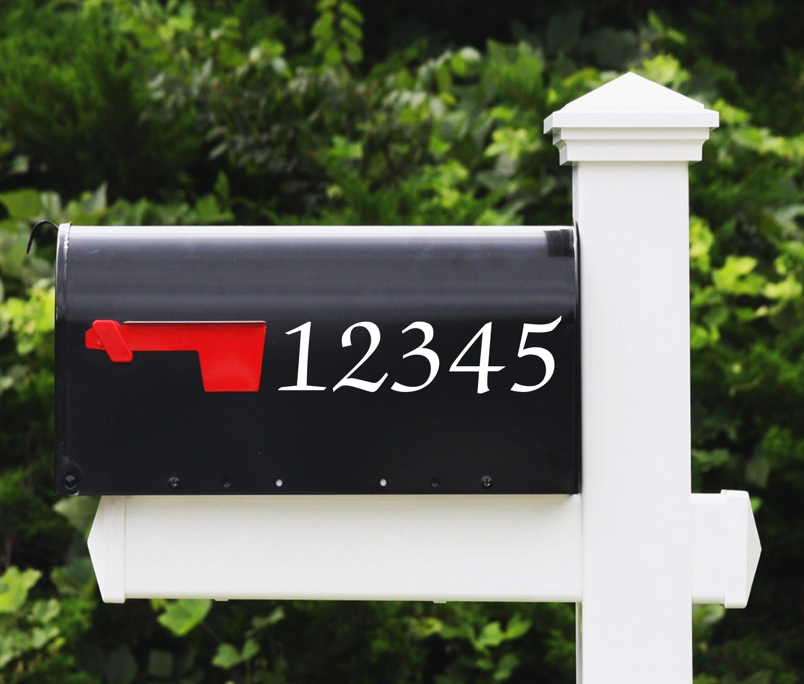 House Number Decal Calligraphy Mailbox Numbers Address Number Stickers House Number Decals Mailbox Numbers Vinyl House