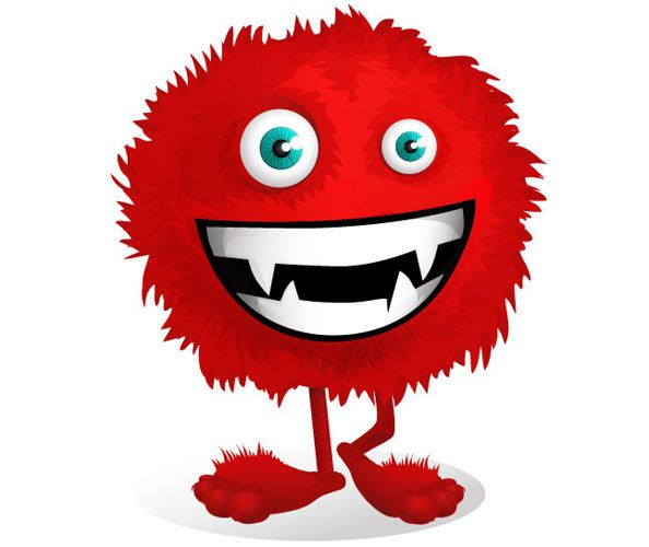 Red Fluffy Monster Vector Character Vector Characters Cute Monsters Monster Clipart Character Design