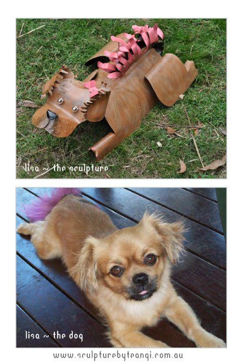 Lisa the dog vs Lisa the sculpture