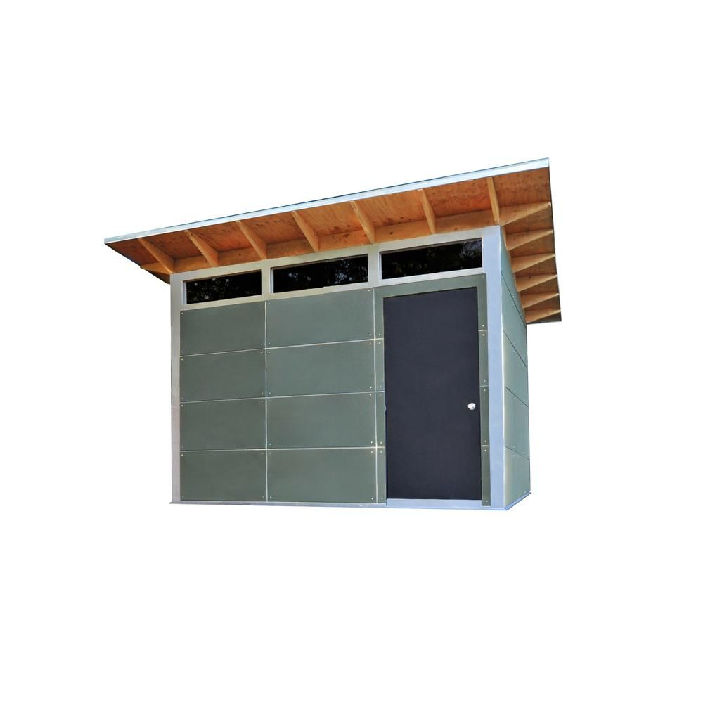 Trico 12 ft x 10 ft premium backyard storageworkshop building multi