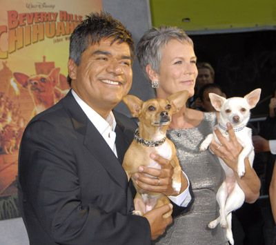 Beverly Hills Chihuahua Premiere Jamie Lee Curtis And George