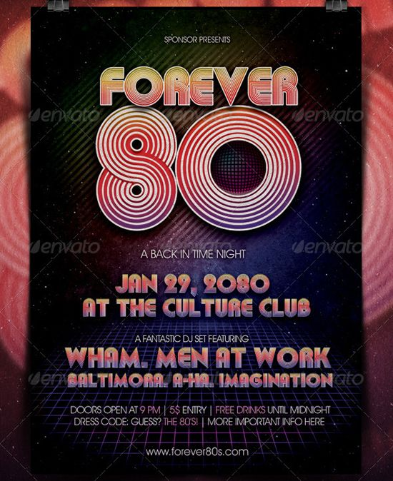 80s Party Flyer Design \/ Flyers Pinterest 80s party, Party - party flyer