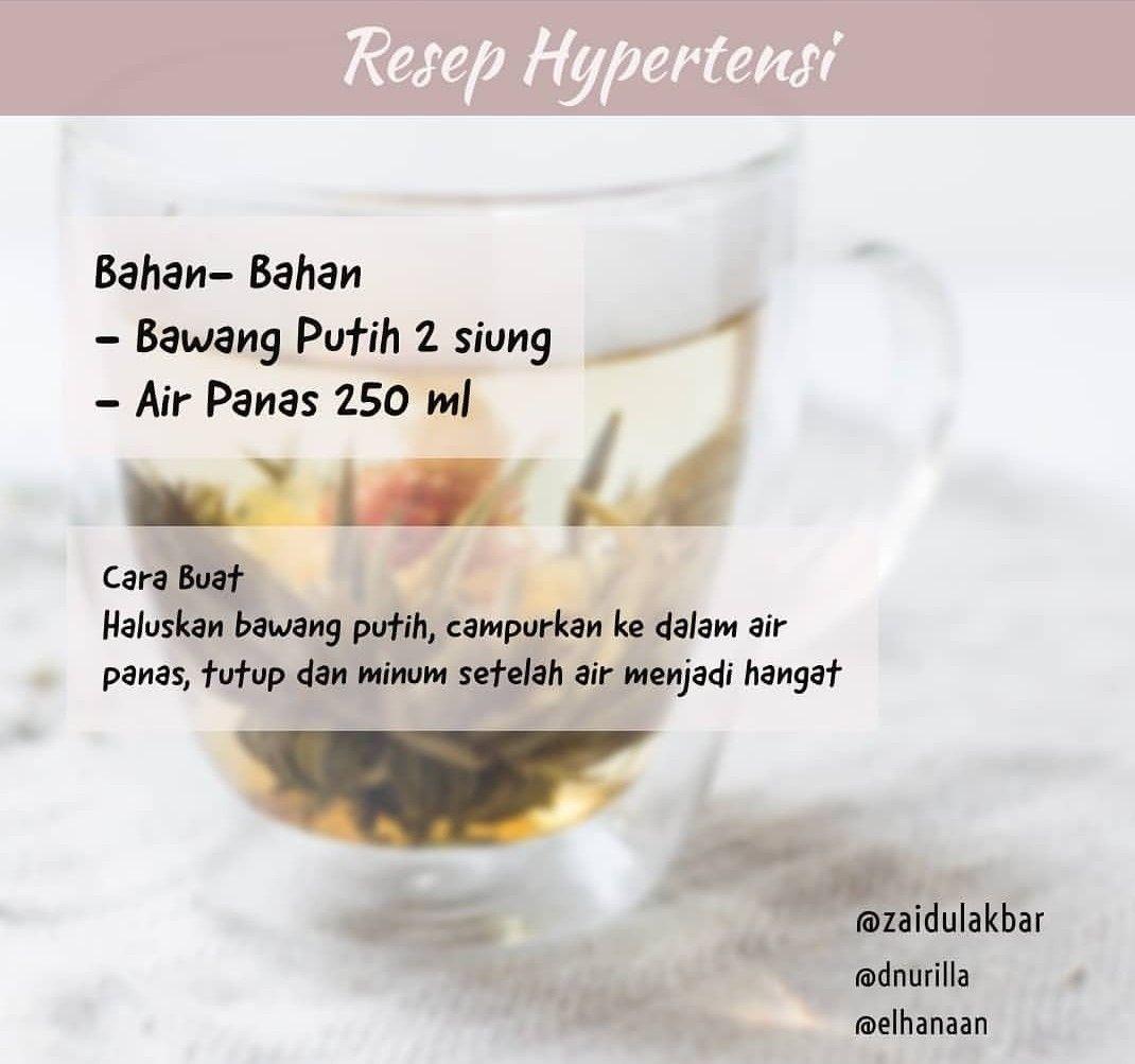Resep Hipertensi Obat Alami Kesehatan Alternatif Resep