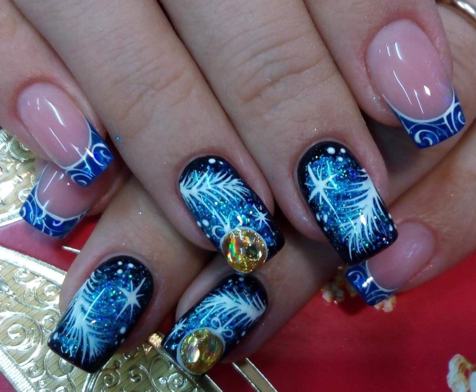 Новогодние картинки на ногтях - актуальный дизайн ногтей ...