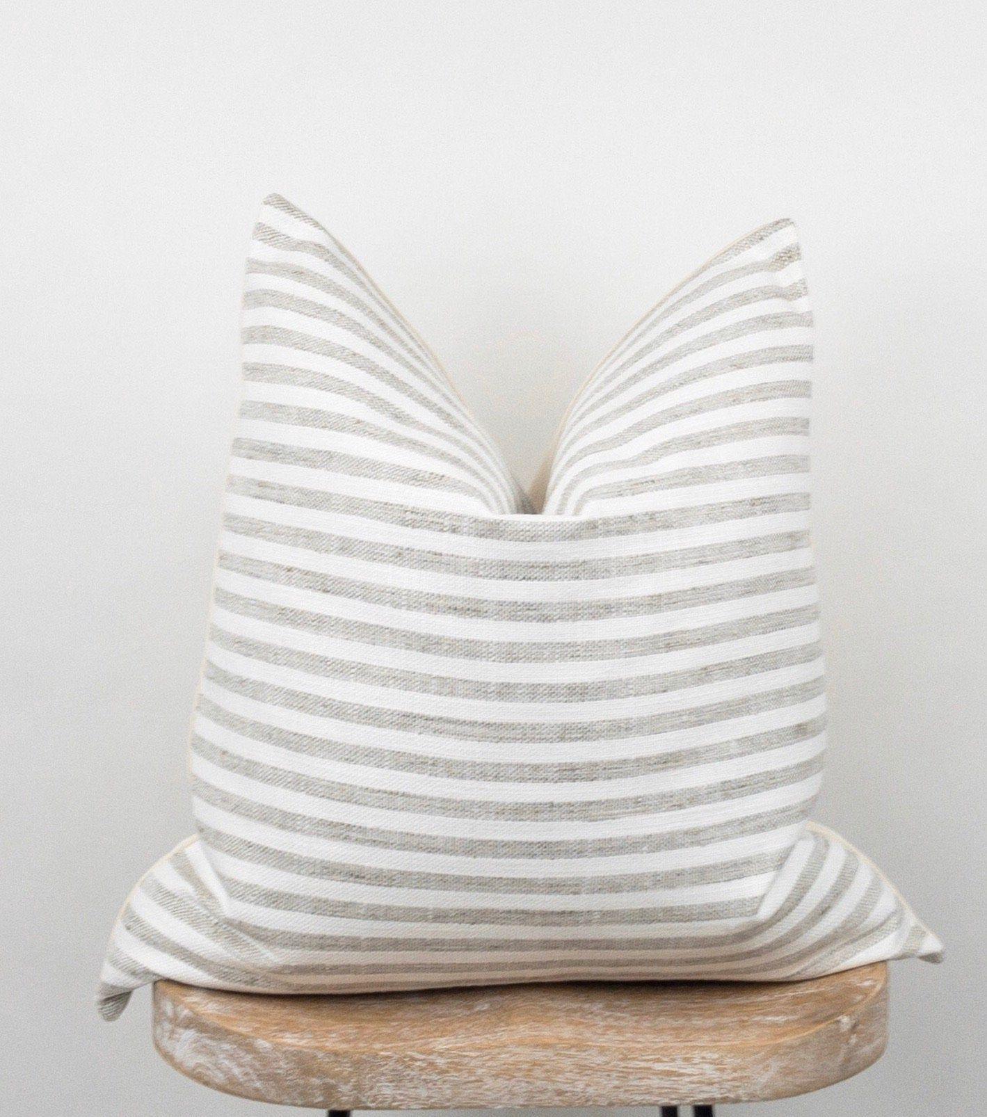 Stripe Farmhouse Pillow Cover Gray And White Pillow Modern Pillow Case Niklas In 2020 Modern Pillow Cases Modern Pillows White Pillows