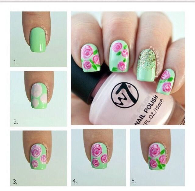 Nice Nails Step By Step Nehty Pinterest Nice