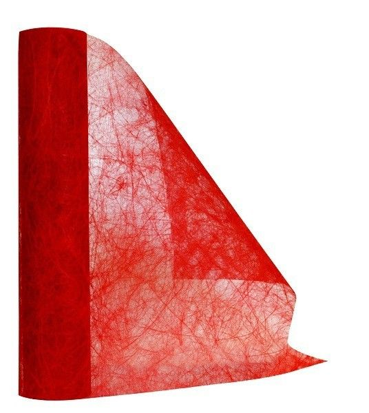 Chemin de table mariage non tiss ajour rouge mariage for Accessoire deco rouge