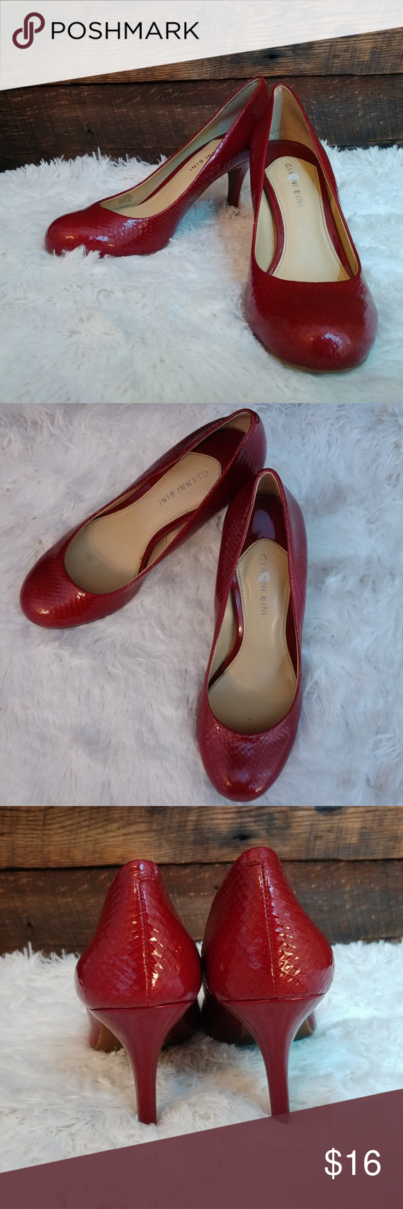 Red Patent Leather heels pumps by