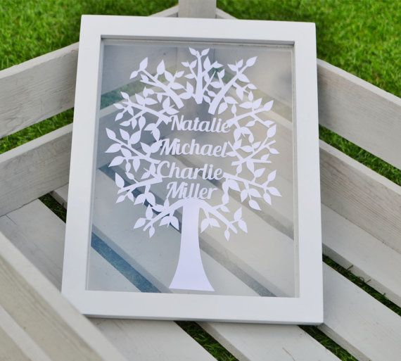 Papercut Family Tree Template Design To Cut Yourself Family Trees