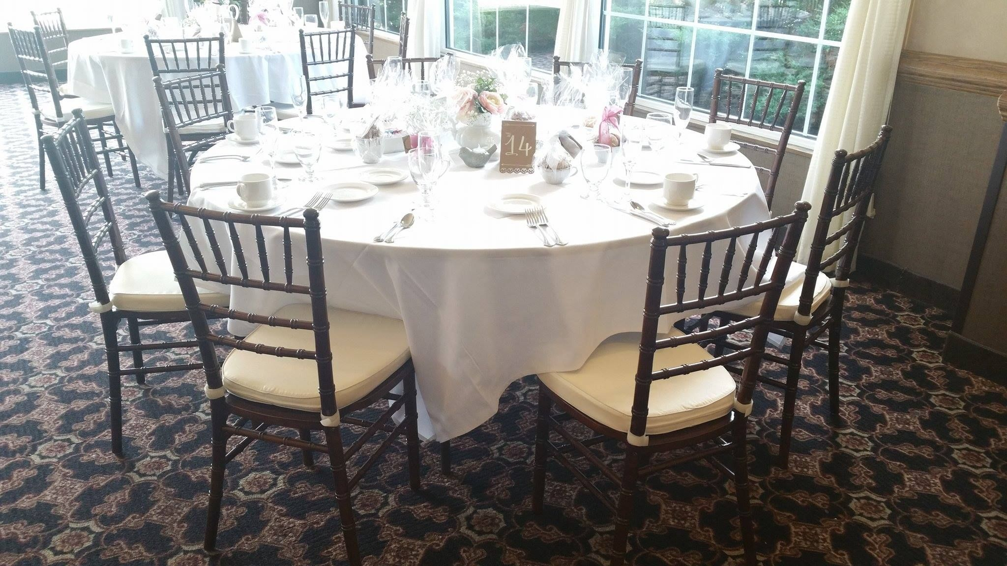 Our East Ballroom with chiavari chairs are a delicate