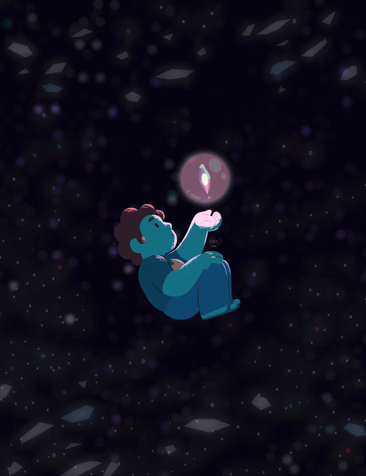 Of course Steven would think of something as simple as giving the Cluster a hug. Or at least the next best thing. Originally I was going to make a video out of this for YouTube but my recording software randomly crapped out in the middle of recording...