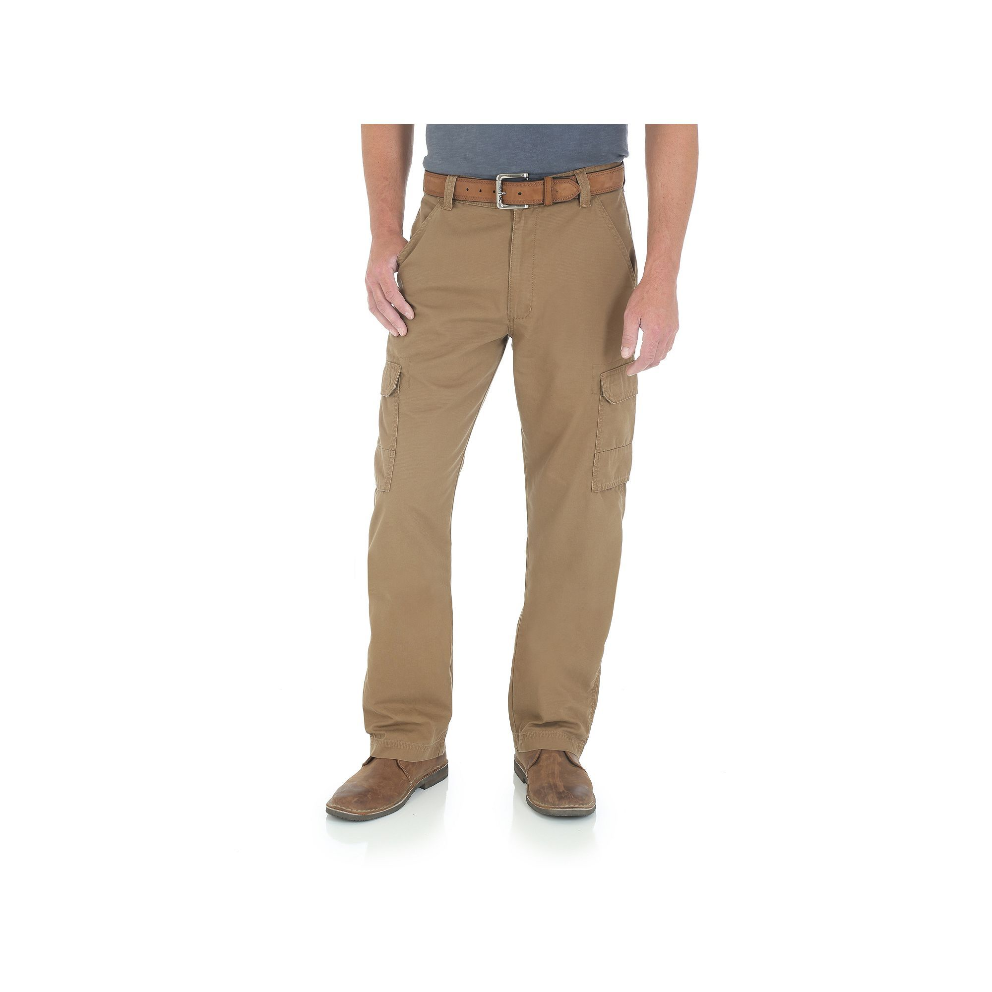 820415bd8a Men's Wrangler Twill Ripstop Cargo Pants, Size: 36X32, Med Brown ...