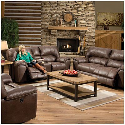 Stratolounger Stallion Brown Snuggle Up Recliner Affordable Living Room Furniture Living Room Collections Living Room Sets