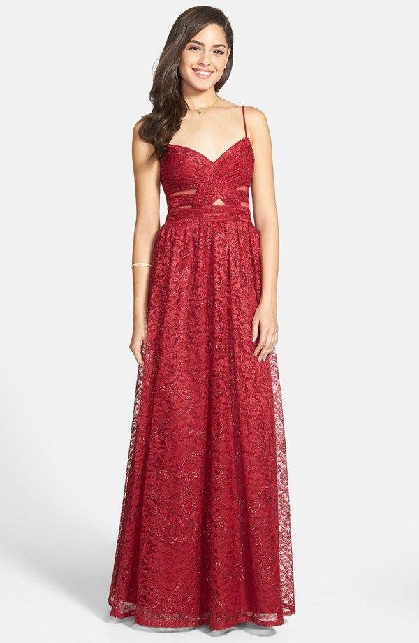 Hailey Logan Glitter Lace Ballgown | Available at Nordstrom ...