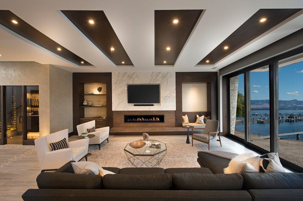 Ceiling Design, Awesome Living Room
