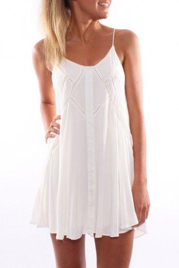 Short white summer dresses for women