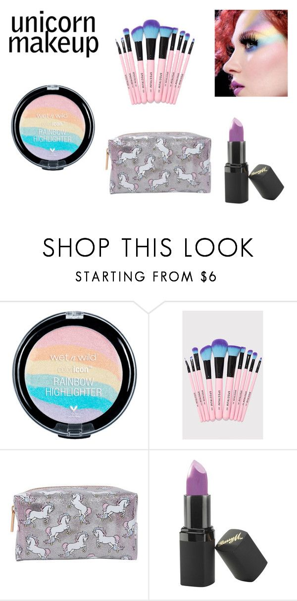 """Unicorn Makeup"" by realitybytes85 ❤ liked on Polyvore featuring beauty, Barry M and unicornmakeup"