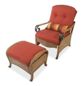 Hampton Bay Kampar Chair And Ottoman Replacement Cushions.  Replacementcushioncompany.com