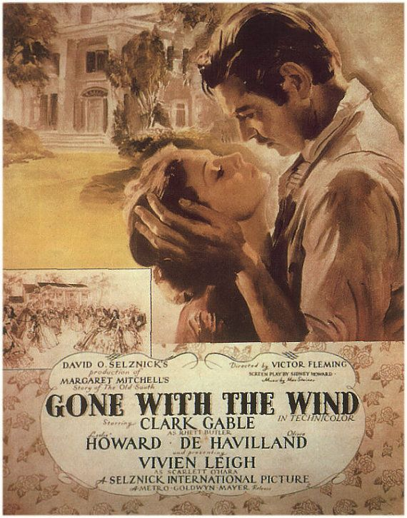 Gone With the Wind Movie Poster PDF by BellaStitcheryDesign, $9.99