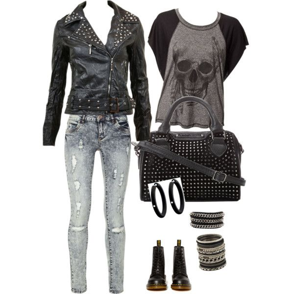 A fashion look from October 2014 featuring Blue Inc Woman jeans, Dr. Martens ankle booties and Betsey Johnson handbags. Browse and shop related looks.