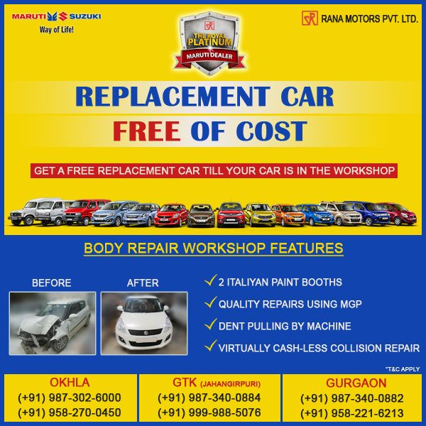 Get A Free Replacement Car Till Your Car Is In The Workshop Http