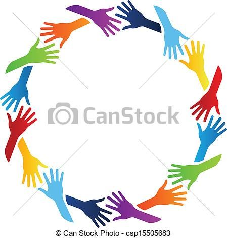 vector community hands circle stock illustration royalty free rh pinterest ca community clipart images community pictures clip art