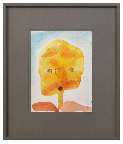 - , 32 x 24 cm - 13.4 x 19.3 x in. (unframed)<br /> 54,4 x 46,4 cm - 21.4 x 18.2 in. (framed), watercolor on paper.