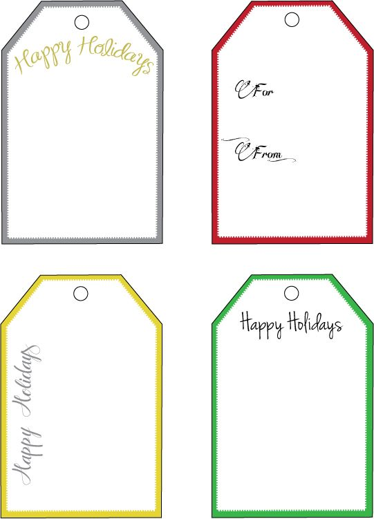 Free Downloads Holiday Gift Tags {Part 2} Home Decor Blogs I - free template for gift certificate