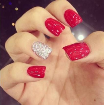 15 ideas for nails ideas acrylic square glitter nails
