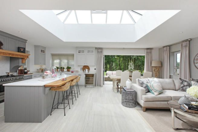 Show Home Open Plan Kitchen Living Room Kitchen Extension Open Plan Kitchen Plans