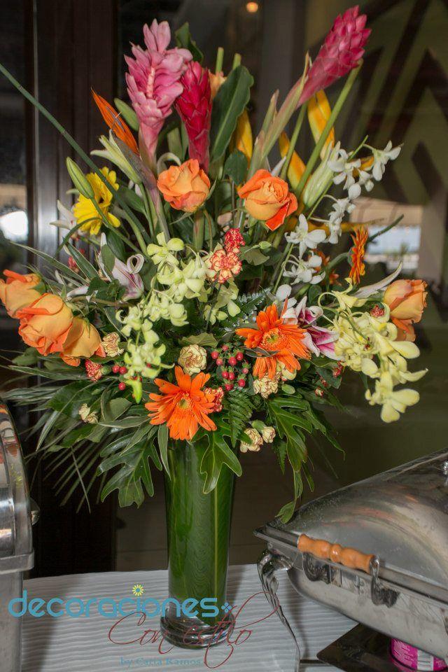 Arreglo con flores tropicales flores naturales y - Arreglo de flores naturales ...