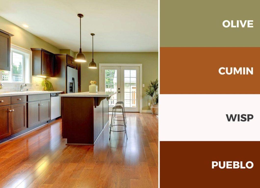 captivating beige gloss kitchen | Captivating Kitchen Color Schemes Warm Palette Brown And ...
