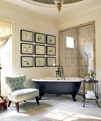 The Art Gallery classic clawfoot tub romantic bathroom decorating ideas