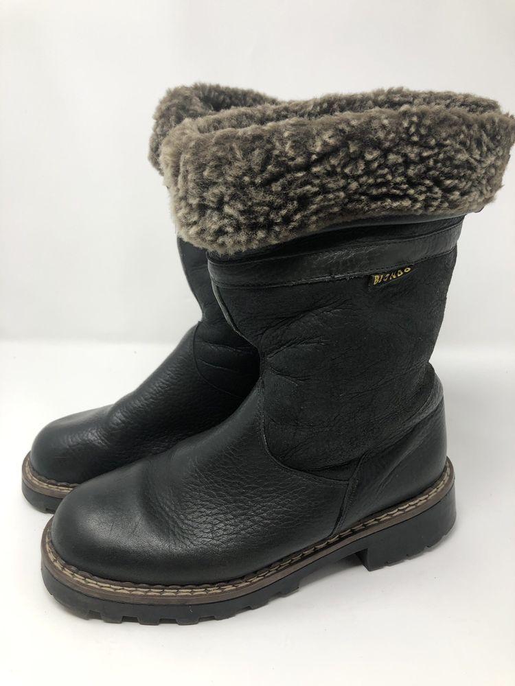 BLONDO Damenss Größe 6.5 Suede Shearling Canada Lined schwarz Stiefel Canada Shearling ... d3adc3
