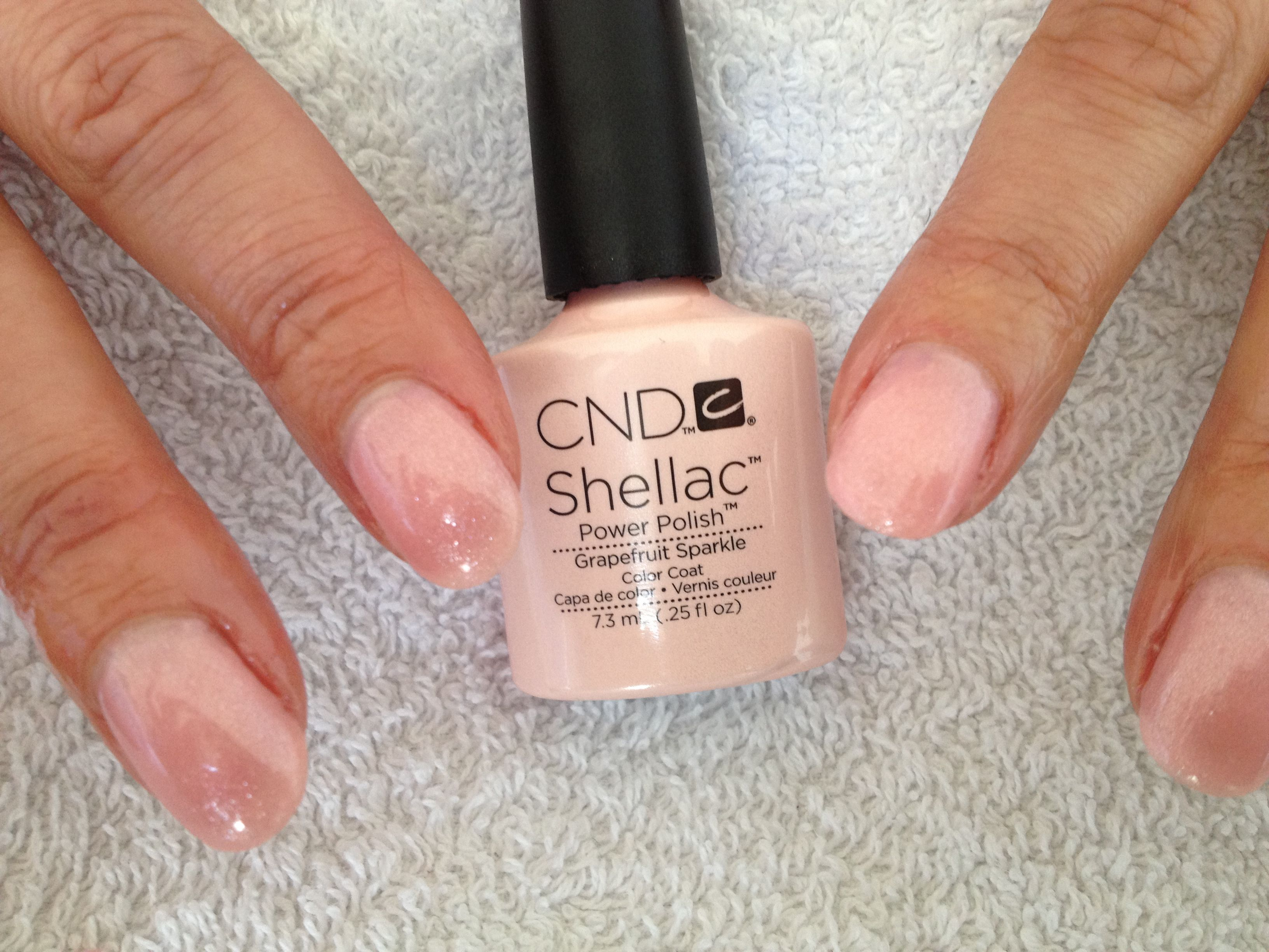 CND Shellac Grapefruit sparkle | Nails | Pinterest | Mafalda