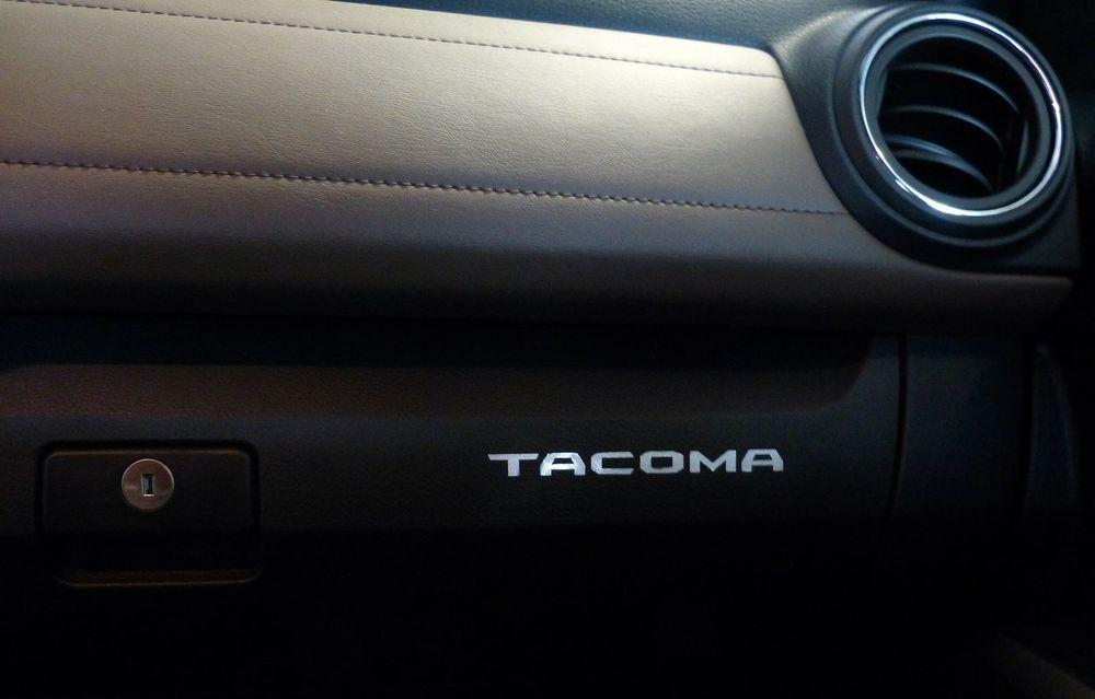 2016, 2017, 2018 /& 2019 Toyota Tacoma Premium Vinyl Door Sill Decal Inserts