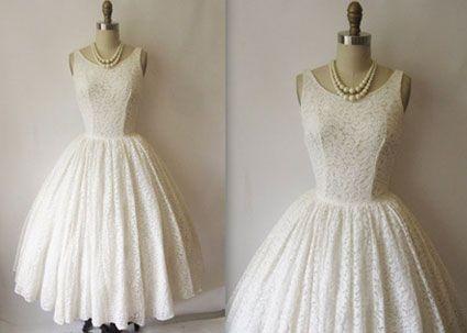 Robe de mariee style annee 50