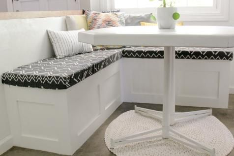 How To Build A Banquette Seat With Built In Storage Dining Room