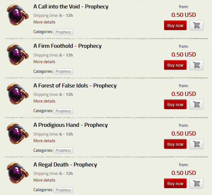 PoE Items, PoE Trade Items, Fast Delivery, has a large stock of PoE